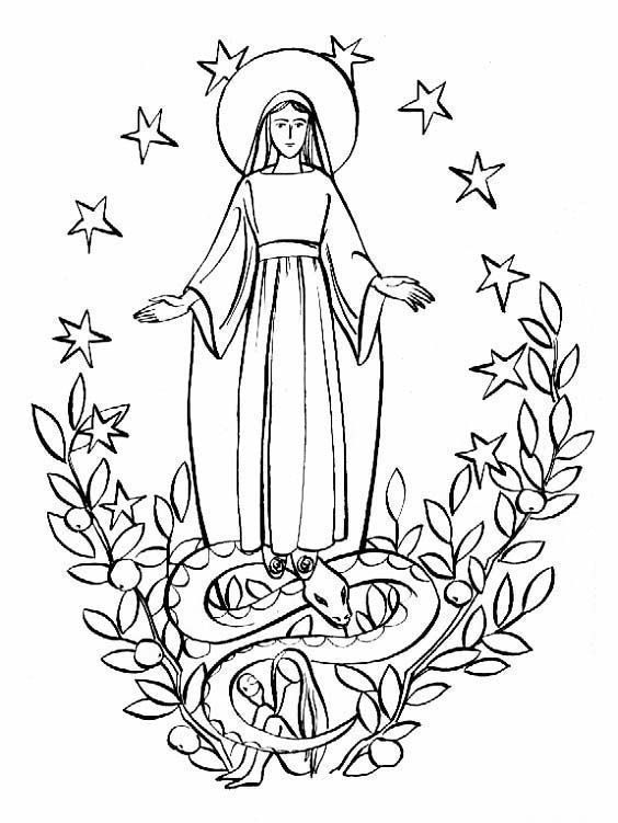 mary the new eve catholic coloring page