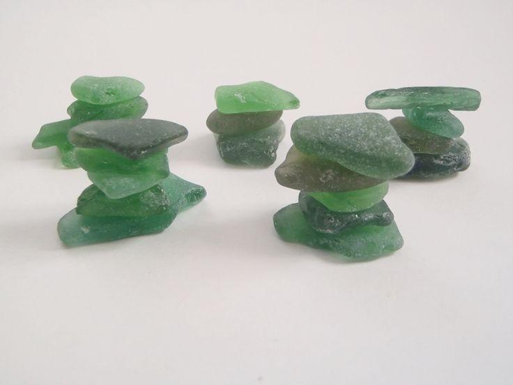 vetri di mare verde materiale per creare gioielli di LaSoffittaDiSte su DaWanda.com