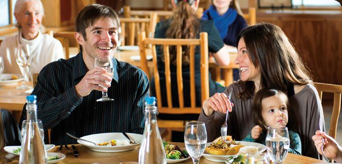 The Kingfisher Restaurant & Wine Bar features gourmet meals created with the freshest local ingredients, many from Sleeping Lady's own two-acre organic garden. #WAwine #Wine #Travel