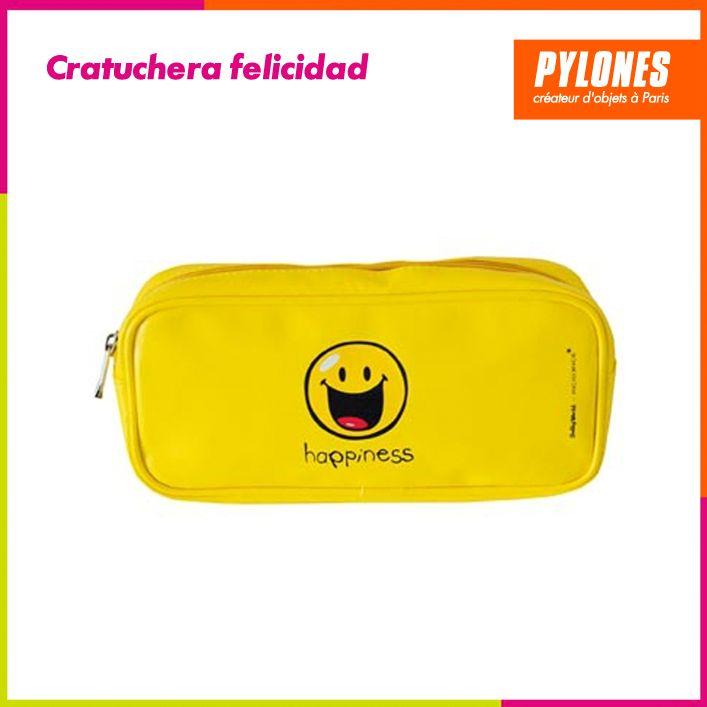Cartuchera felicidad amarilla #Regalos #Novedades @pylonesco