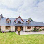 oak frame traditional home | Welsh Oak Frame  #oak #greenoak #wood #oakframe #frame #dream #dreamhome #house #home #goals #housegoals #glazing #welshoakframe
