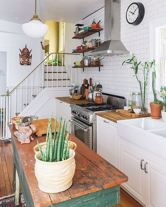 cozy classic white kitchen with vintage accents small house interior designvintage - Interior Design For Small Houses