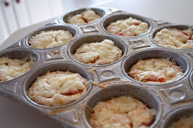 Egg Frittatas...33 calories each!  Toast a 100 calorie English Muffin for a low calorie breakfast!  Make ahead for all week!