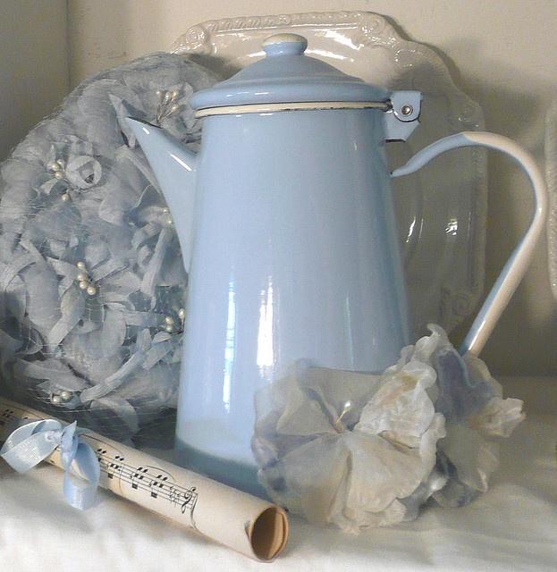 enamel lovely pastel blue - georgeous