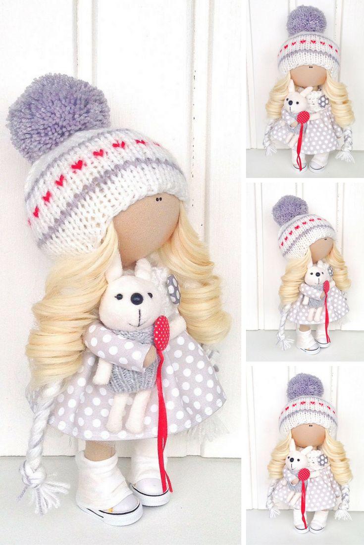 Fabric doll Baby doll Tilda doll Interior doll Cloth doll Soft doll Art doll White doll Handmade doll Nursery doll Textile doll by Olga L