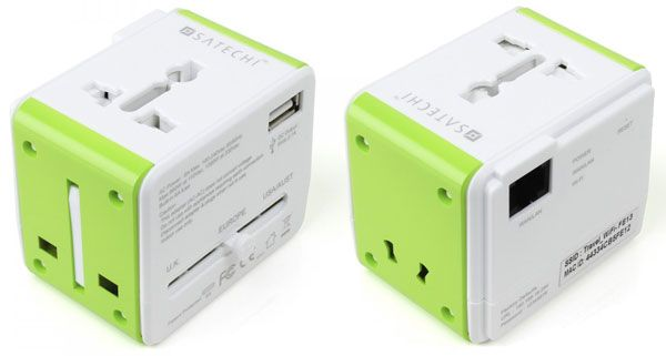 Satechi Smart Travel Router/Travel Adapter with USB Port works in over 150 countries and improves/extends Internet access.  Also charges two devices simultaneously. http://www.amazon.com/gp/product/B00EZT2PB4?ie=UTF8&creativeASIN=B00EZT2PB4&linkCode=xm2&tag=organizemyt00-20