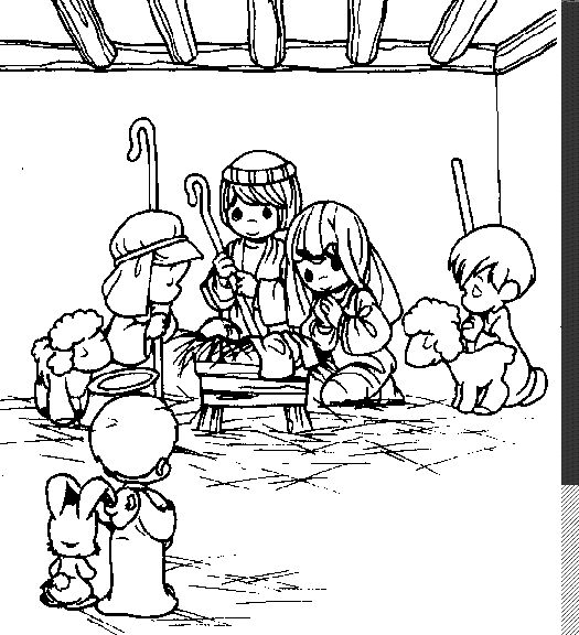 Precious Moments Nativity Coloring Sheet
