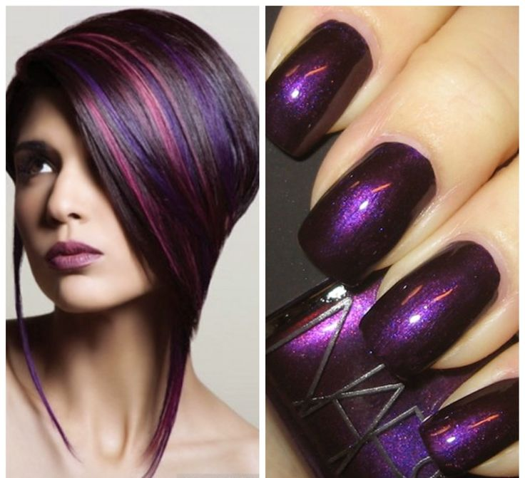 textures trends purple hair nail polish