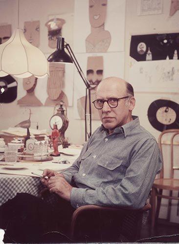 Steinberg in his studio, 33 Union Square, New York, c. 1970.