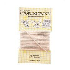 """Harold Import 60606 Cooking Twine by Harold Import. $5.55. """"HAROLD IMPORT"""" COOKING TWINE    Regency Cooking Twine is indispensible in the kitchen, and not just for cooking meat. While it is generally used for trussing poultry and roasts, it is also wonderful for securing asparagus for steaming or tying bunches of herbs for flavoring soups and stews. This biodegradable cooking twine is made from 100 percent cotton and comes in a 25 foot length. Unwind the amoun..."""