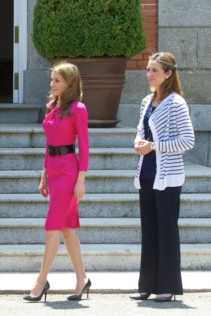 Princess Letizia - Spanish and Japanese Royals Meet for Lunch