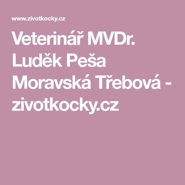 Veterinář MVDr.  Luděk Peša Moravská Třebová -                                          zivotkocky.cz