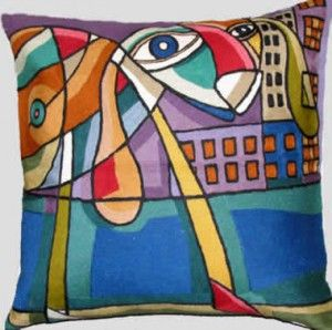 Contemporary Throw Pillows – Picasso City Dog