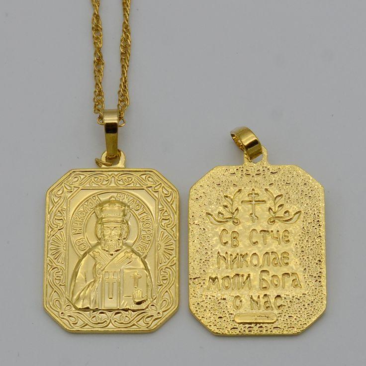 Orthodoxe Christentum Anhänger Halskette Kette Orthodoxe Kirche Ewige Kirche Kreuze Schmuck Frauen Russland/Ukraine/Belarus/Rumänien