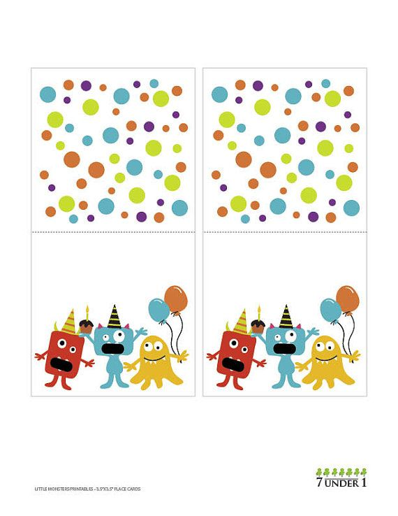 Little Monster Party Food Labels  customize for by 7under1designs, $4.00
