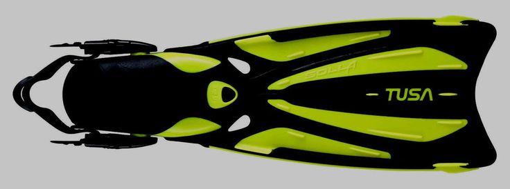 TUSA Solla blade fin scuba diving equipment yellow snorkel gear travel fin diver #TUSASOLLAFIN