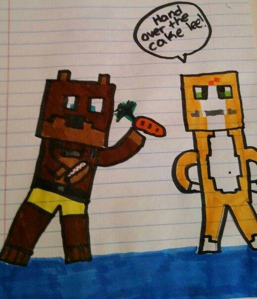 Lol am I getting any better? Stampy and Lee fan art! By: (me) Maddi Dominger