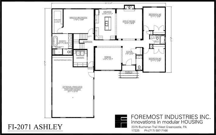 The new fi 2071 ashley model home brought to you by for Foremost homes floor plans