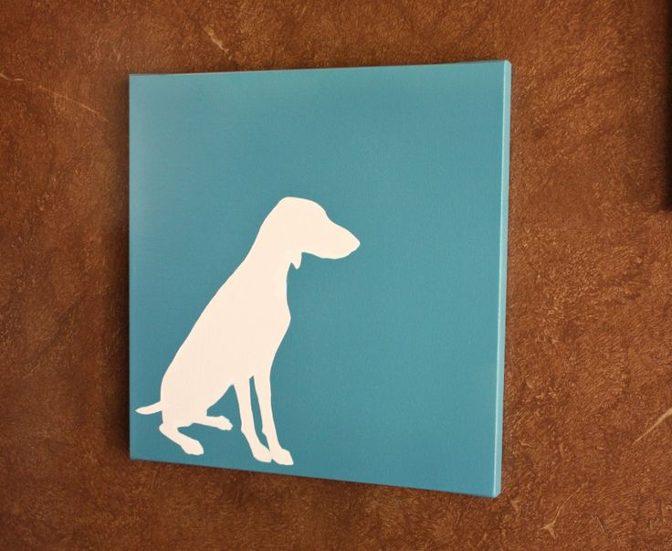 DIY Dog Silhouette on Canvas {The Creativity Exchange}