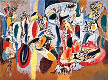 Arshile Gorky born 1904 – 1948 was an Armenian-American painter, who had a seminal influence on Abstract Expressionism. Along with Rothko, Jackson Pollock and Willem de Kooning, Arshile Gorky has been hailed as one of the most powerful American painters of the 20th century.