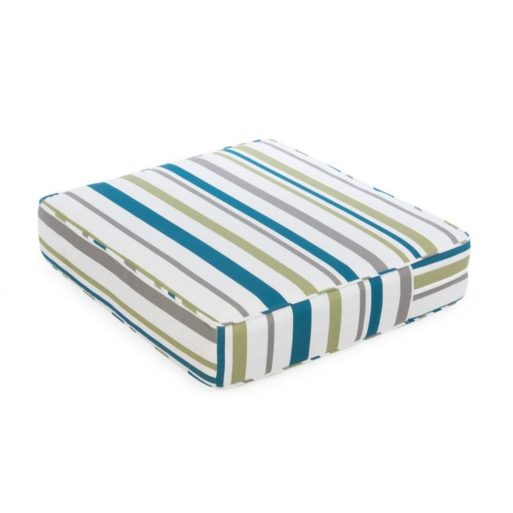 Coral Coast Classic 22.5 x 21.5 in. Outdoor Deep Seating Seat Cushion Oceanside Stripe - M071-PC135-OCEANSIDE STRIPE