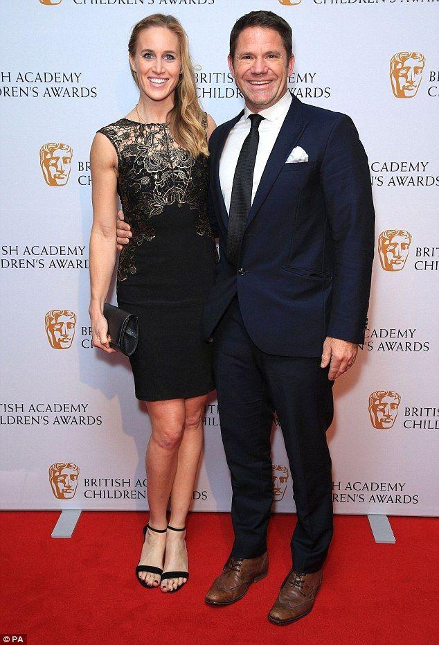 Honeymoon period: Newlyweds Steve Backshall and Helen Glover also made a glamorous appeara...