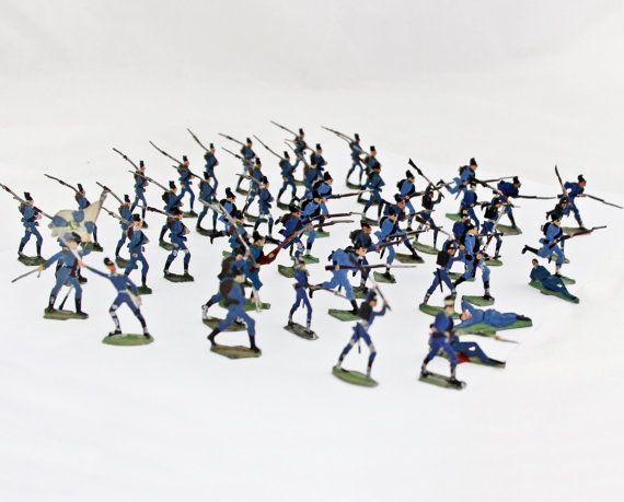 53 Antique German Tin Soldiers Lead Soldiers by GrandpasMarket
