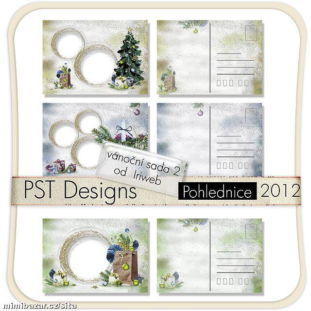 Vánoční pohlednice vzor 8