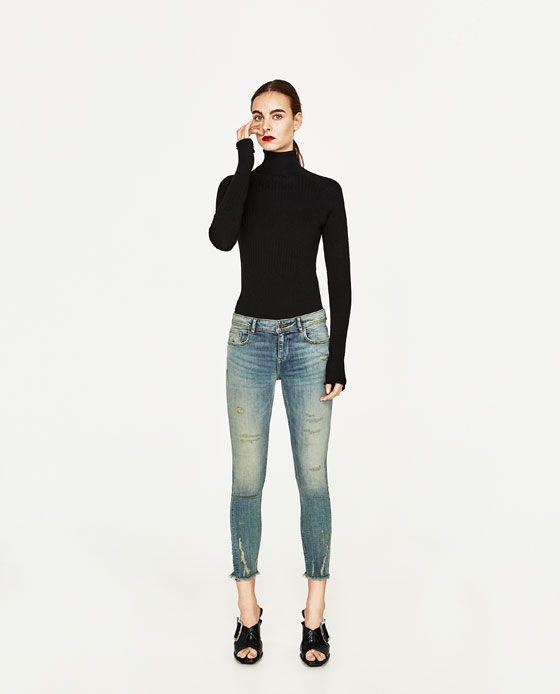 Rote jeans damen zara