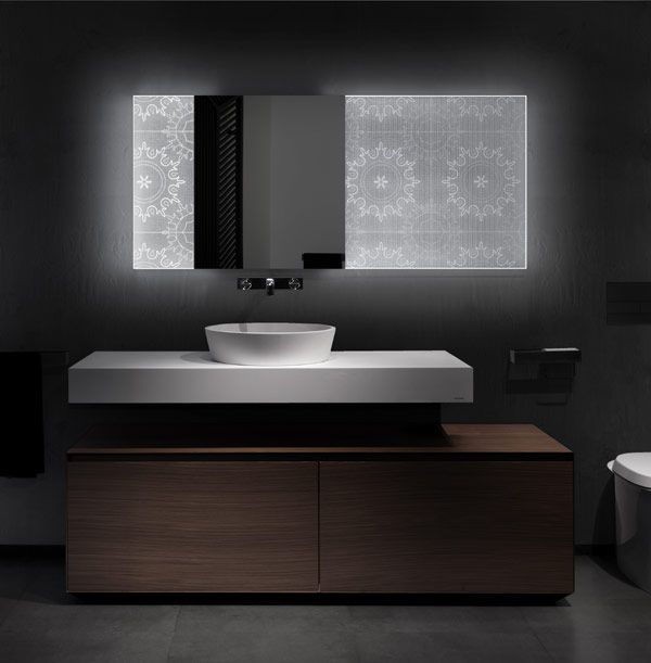 Backlit Bathroom Mirrors With Holographic Effect by Elia Felices #decorativelight