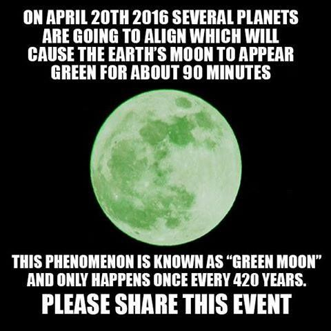 Don't miss the GREEN MOON on April 20th www.disclose.tv - http://dtv.to/VaCeff