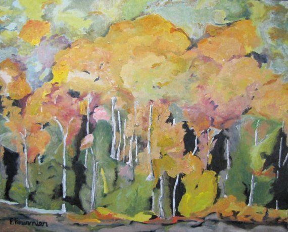 Art Appalachian Abstract Landscape Oil painting by Fournierpainter