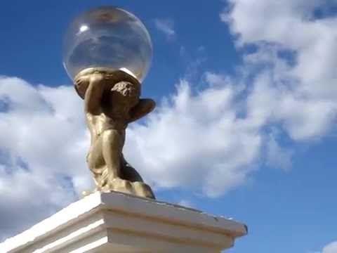 Скульптура из бетона для забора - Титан | Декоративные фонари из бетона скульптура   | SCULTORE