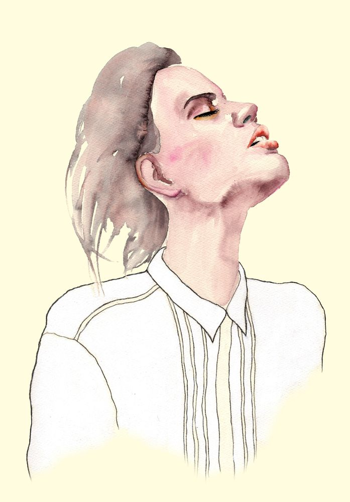 Image of 'Donna' Watercolor Art Print 30 x 40 cm  #illustration #painting #watercolor #fashion #drawing #portrait