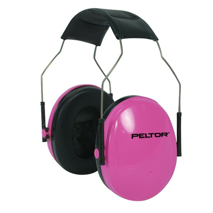 Pink Pelators hearing protection- Amazon.com. Will match my Sig Sauer Pink Mosquito :)