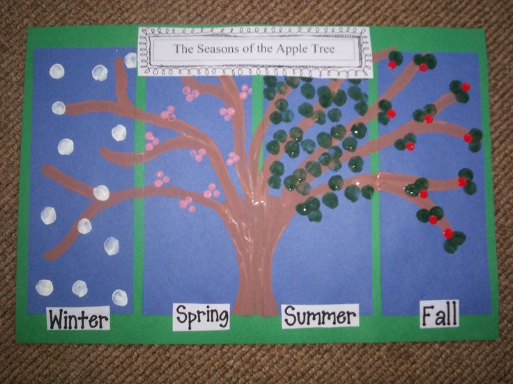 Grade 1, Cluster 4: Daily and Seasonal Changes--Seasons of the Apple Tree Art Project