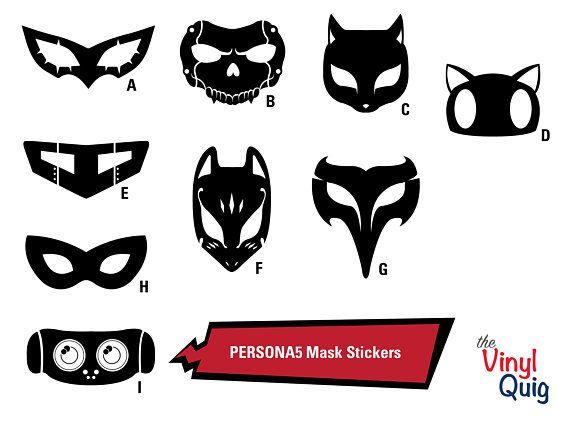 Persona 5 Royal Phantom Thieves Masks Vinyl Stickers Etsy Persona 5 Vinyl Sticker Persona