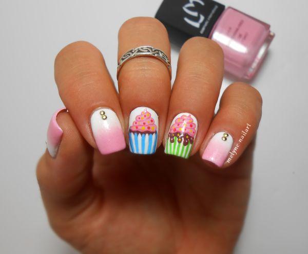 Nail art Cupcake http://melyne-nailart.com/2014/06/15/nail-art-cupcakes-nailstorming-61/