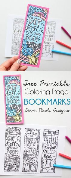 Free Printable Coloring Page Bookmarks. Really cool adult coloring craft project. I can't wait to try this.