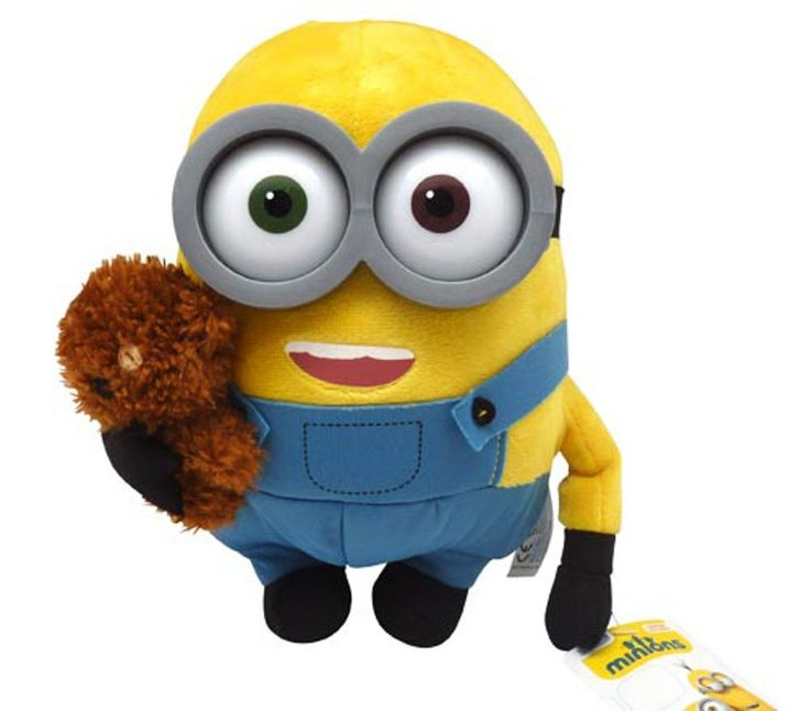 28cm Bob With Bear Minions Soft Toy