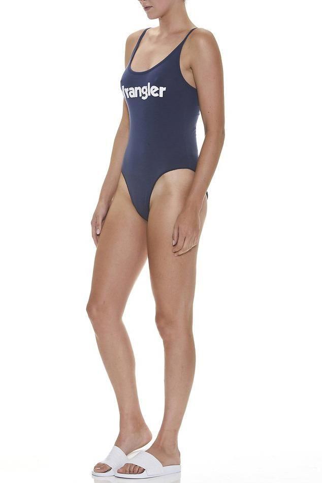 wrangler - Lo Cut Bodysuit - Navy/White