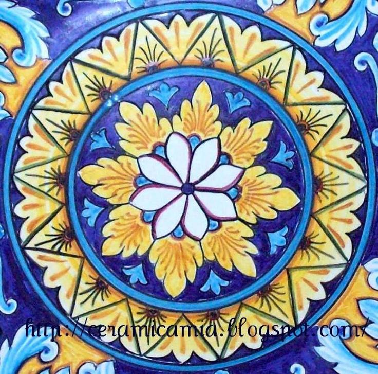 Decorazione per una mattonella di #ceramica #Italy #handmade http://ceramicamia.blogspot.it/2011/02/decorazione-di-un-piatto-in-ceramica.html