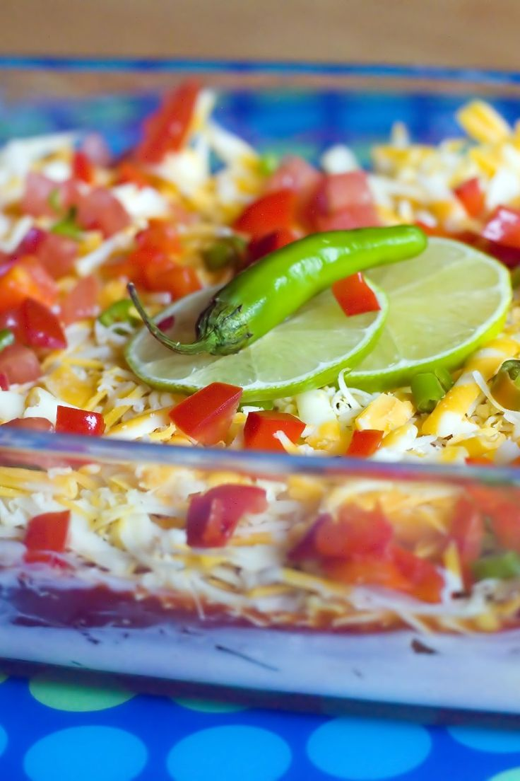 Seven Layer Taco Dip Appetizers Snacks, Layered Tacos, Mexicans Dips ...