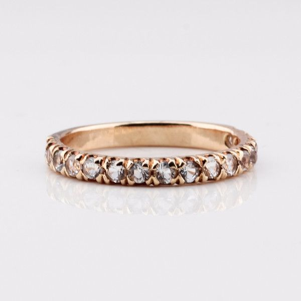 Half Eternity Ring - Rose Gold & Zircon by Jane Heng Jewellery | Jane Heng Jewellery