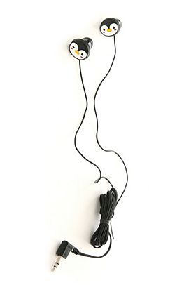 penguin ear buds - holy crap I need these.