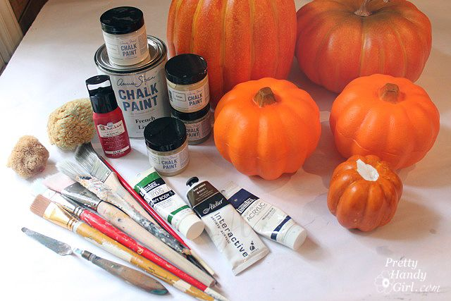 How to Paint Fake Pumpkins to look Realistic