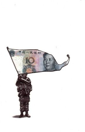 Flying the money flag-South African artist, Stephen Rosin
