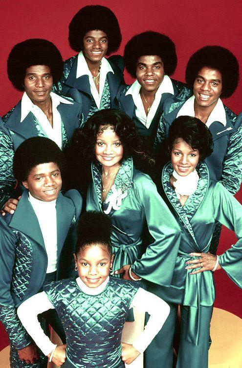 The Jacksons TV Show (L-R Jackie Jackson, Michael Jackson, Tito Jackson, Marlon Jackson, Randy Jackson, La Toya Jackson, Rebbie Jackson, and Janet Jackson)