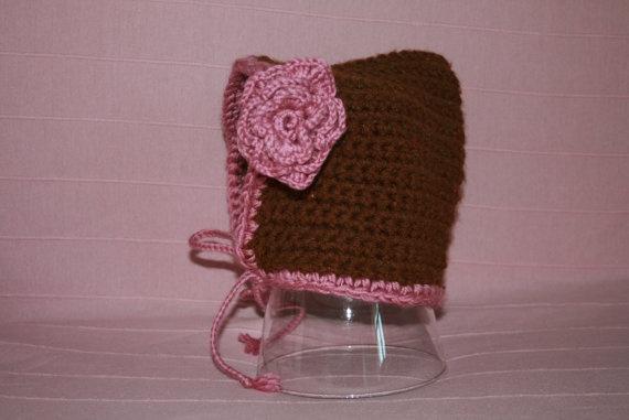 crochet bonnet by MadameBonneterie on Etsy, €10.00