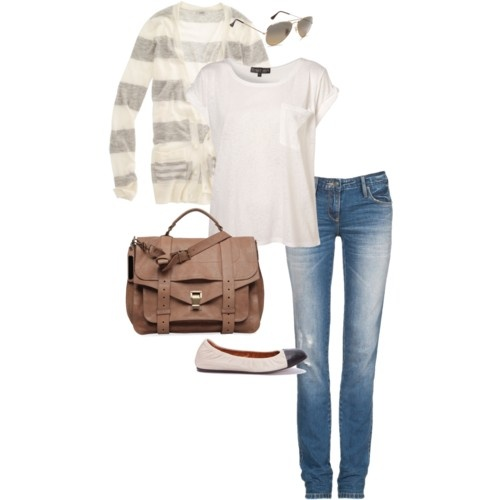 Weekend: Neutral Outfit, Stripes Cardigans, Casual Style, Cute Outfits, Stripes Sweaters, Weekend Errands, Outfits Ideas, The Cardigans, Travel Outfits